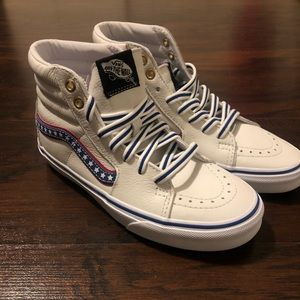 Vans Evil knievel Americana white leather size 5